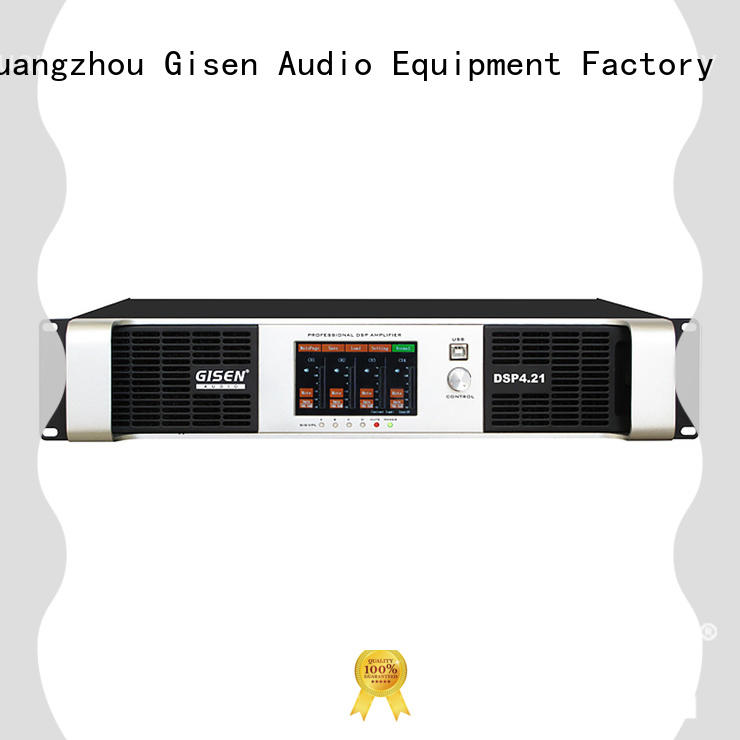 Gisen professional multi channel amplifier 2 channel for performance