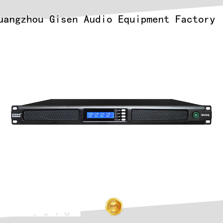 Gisen 2channel 4 channel power amplifier series for venue
