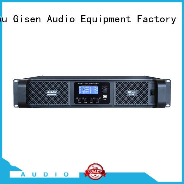 Gisen multiple functions dsp amplifier wholesale for venue