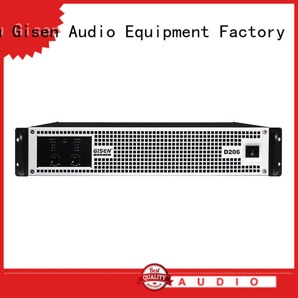 Gisen 2100wx2 class d amplifier fast delivery for meeting