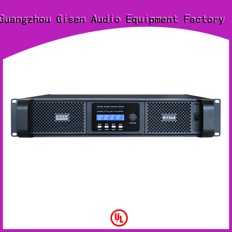Gisen power class d stereo amplifier wholesale for entertaining club