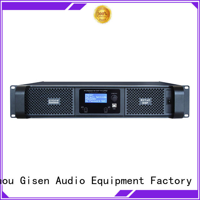 Gisen multiple functions dj audio amplifier 2 channel for performance