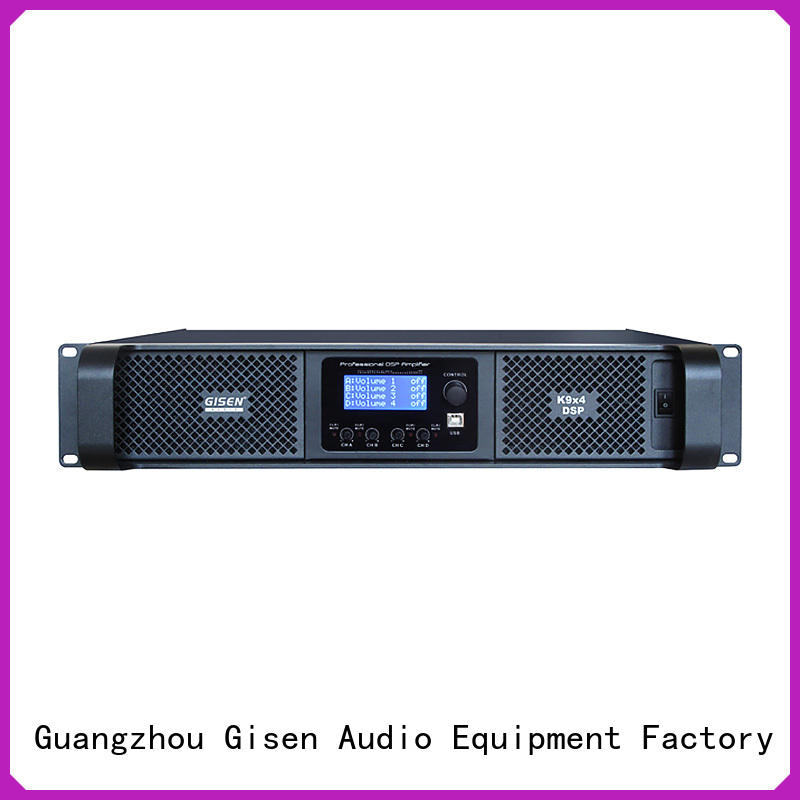 Gisen professional dsp amplifier factory