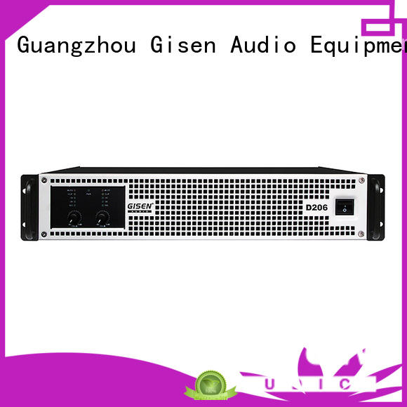 Gisen professional sound digital amplifier fast shipping for entertaining club