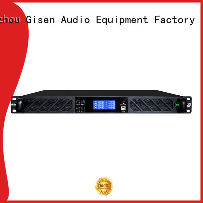 Gisen multiple functions dsp amplifier supplier for stage