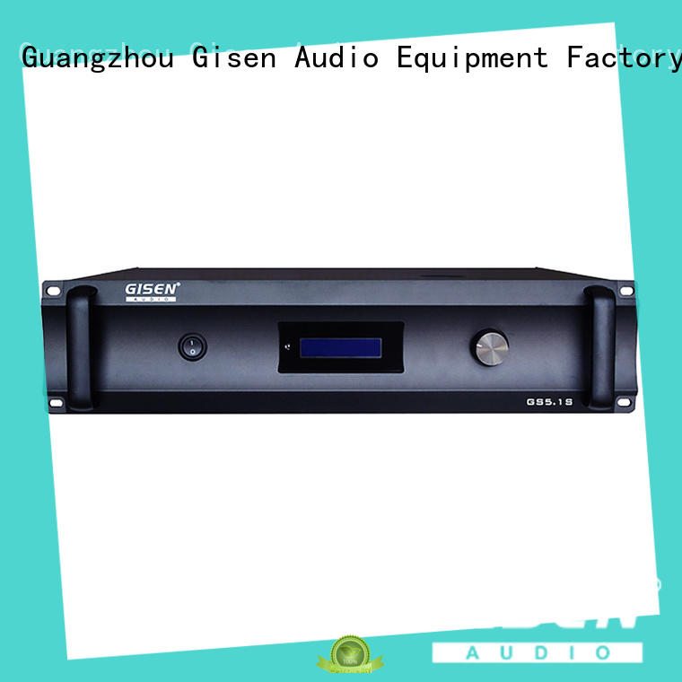 Gisen durable stereo power amplifier wholesale for private club