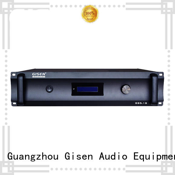 Gisen low distortion home theater amplifier exporter for ktv