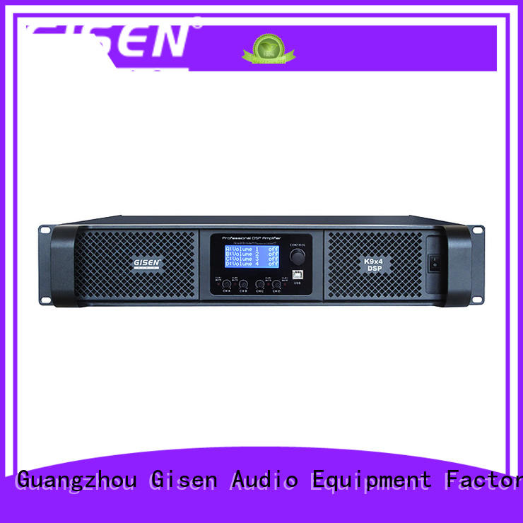 Gisen multiple functions multi channel amplifier supplier for performance