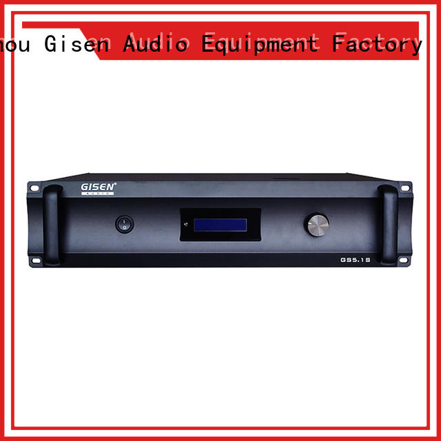 Gisen theatre 4 channel amplifier home supplier for private club