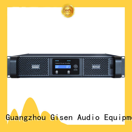 Gisen guangzhou class d professional amplifier fast delivery for entertaining club