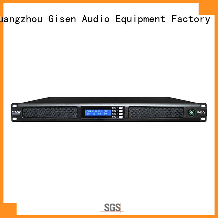 Gisen new model 4 channel amplifier pro audio 4 channel for venue