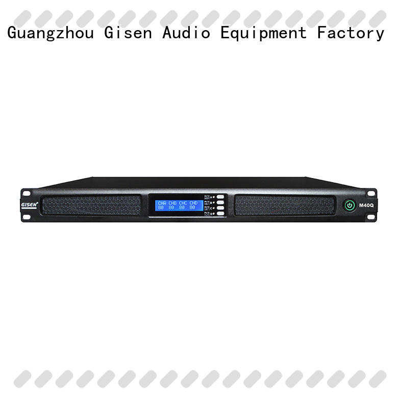 Gisen class professional amplifier series for venue