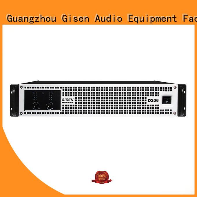 Gisen guangzhou hifi class d amplifier wholesale for stadium