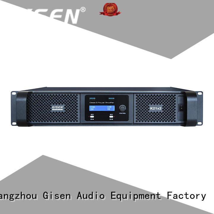 Gisen high efficiency class d audio power amplifier digital for entertaining club
