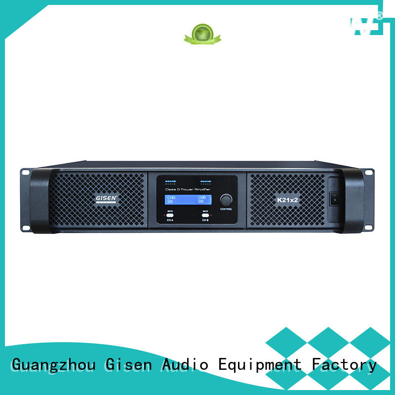 Gisen guangzhou best class d amplifier wholesale for entertaining club