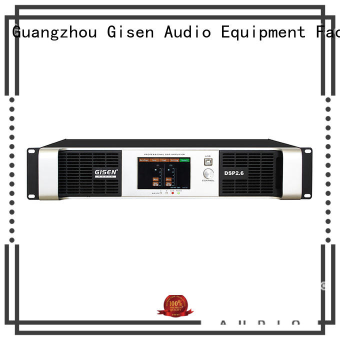 Gisen high quality desktop audio amplifier manufacturer for stage