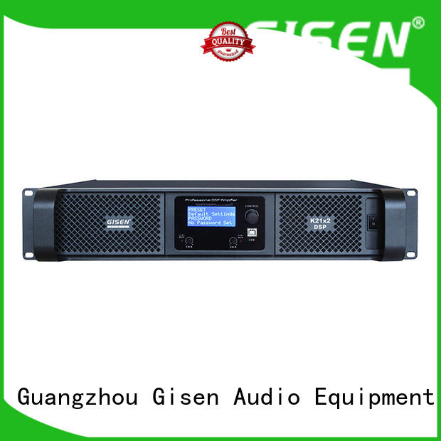 Gisen high quality dsp power amplifier supplier for performance