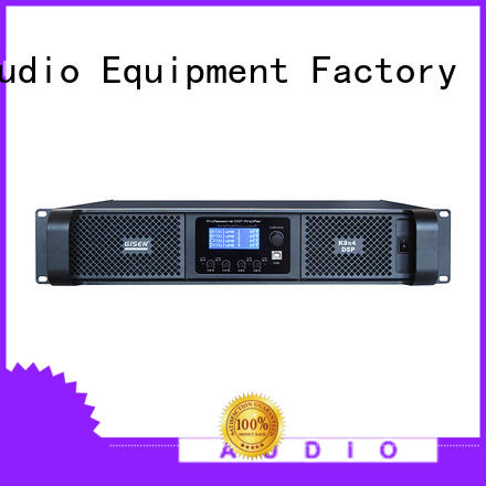 Gisen touch screen dj power amplifier manufacturer for performance