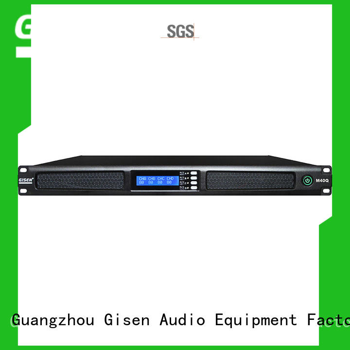 Gisen class digital stereo amplifier manufacturer for venue