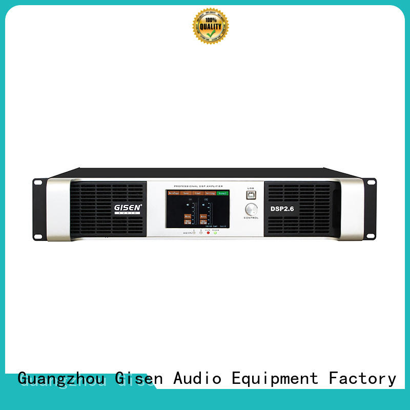 Gisen professional dsp amplifier factory for venue