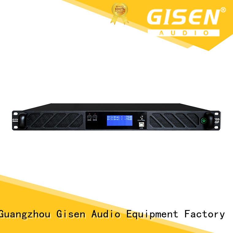 Gisen 2100wx2 audio amplifier pro supplier for venue