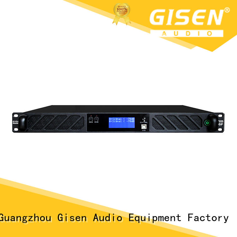 Gisen 2100wx2 audio amplifier pro supplier for venue