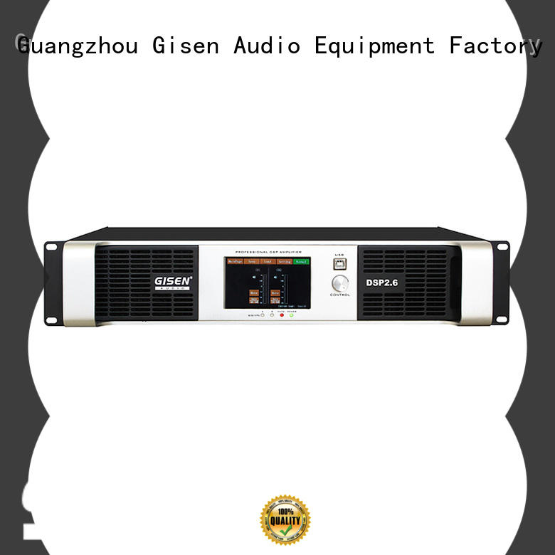 Gisen multiple functions dsp amplifier wholesale for venue