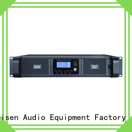 Gisen 4 channel direct digital amplifier manufacturer for stage