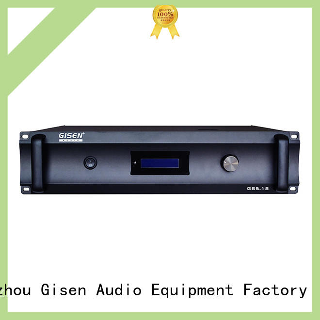 Gisen low distortion stereo audio amplifier great deal for private club
