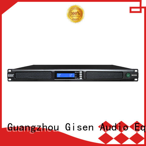 Gisen 1u digital stereo amplifier series for venue