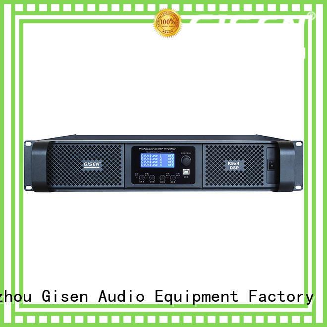 Gisen 4 channel amplifier sound system wholesale for venue