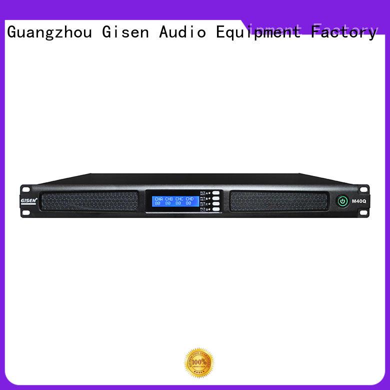 Gisen new model audio power amplifier manufacturer for entertainment club