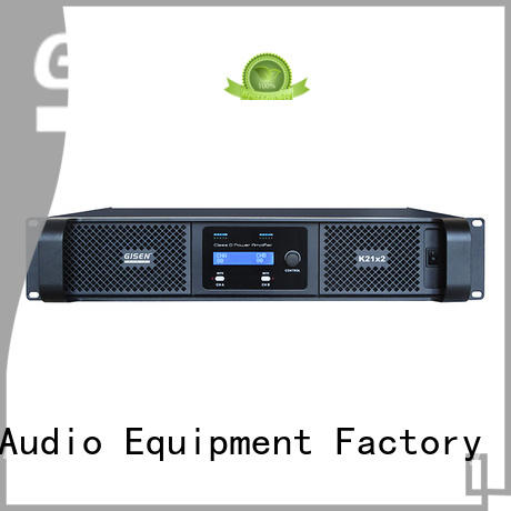 Gisen high efficiency top 10 power amplifiers wholesale for stadium