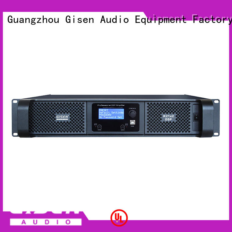 Gisen multiple functions multi channel amplifier manufacturer for various occations