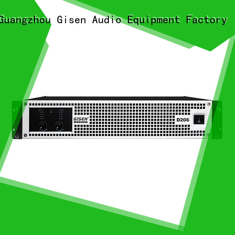 Gisen digital class d digital amplifier wholesale for stadium