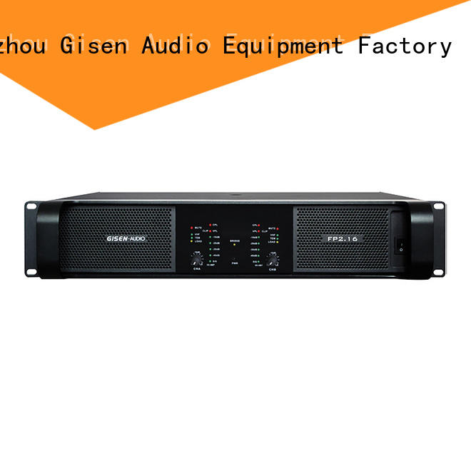 Gisen unreserved service compact stereo amplifier one-stop service supplier for vocal concert