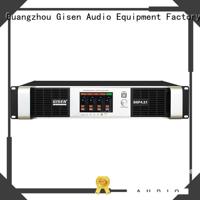 professional dsp power amplifier 4 channel supplier for performance