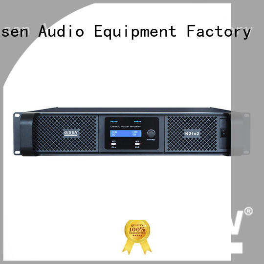 Gisen 2100wx2 class d power amplifier fast delivery for stadium