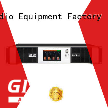 Gisen high quality best power amplifier in the world factory for venue