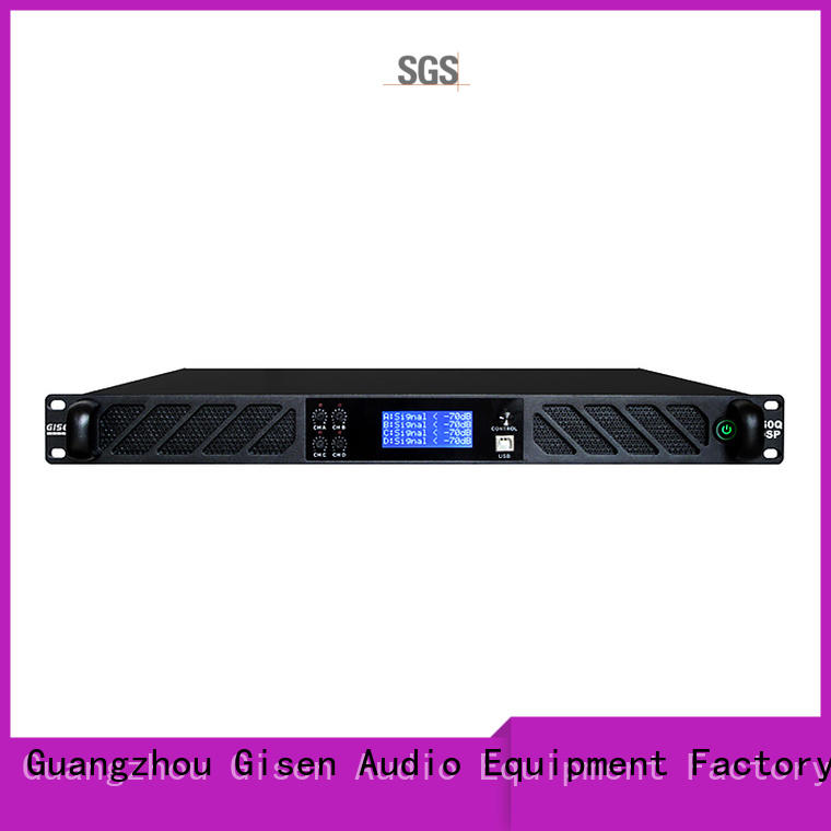 Gisen 2100wx4 car audio dsp amplifier factory for performance