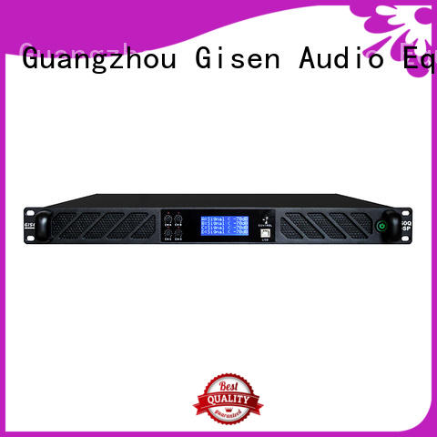Gisen multiple functions multi channel amplifier supplier