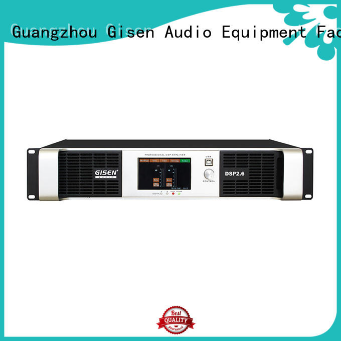 Gisen high quality audio amplifier pro wholesale for stage