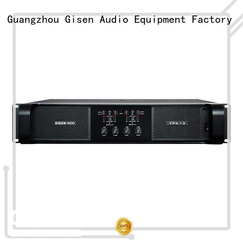 Gisen 4x1300w music amplifier get quotes for night club