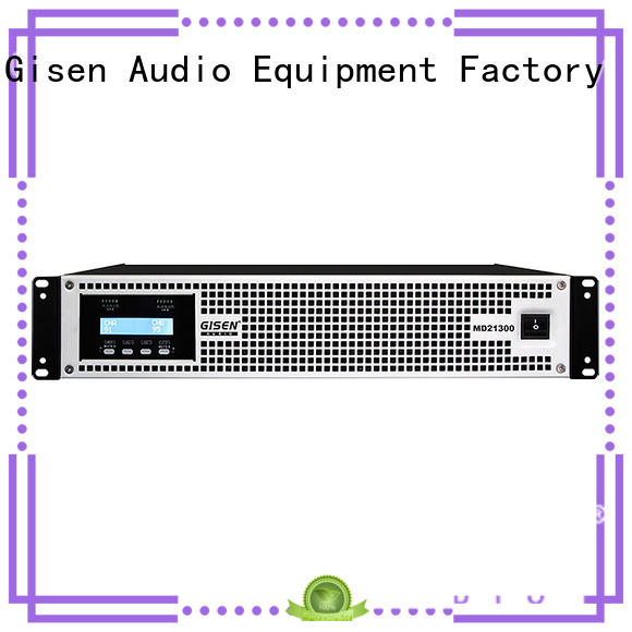 Gisen competitive price best stereo power amplifier amplifier for stadium