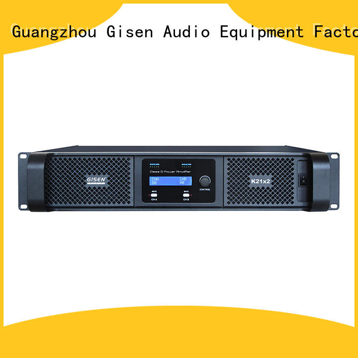 Gisen guangzhou hifi class d amplifier supplier for stadium