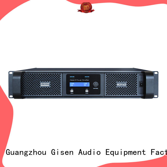 Gisen guangzhou sound digital amplifier manufacturer for entertaining club