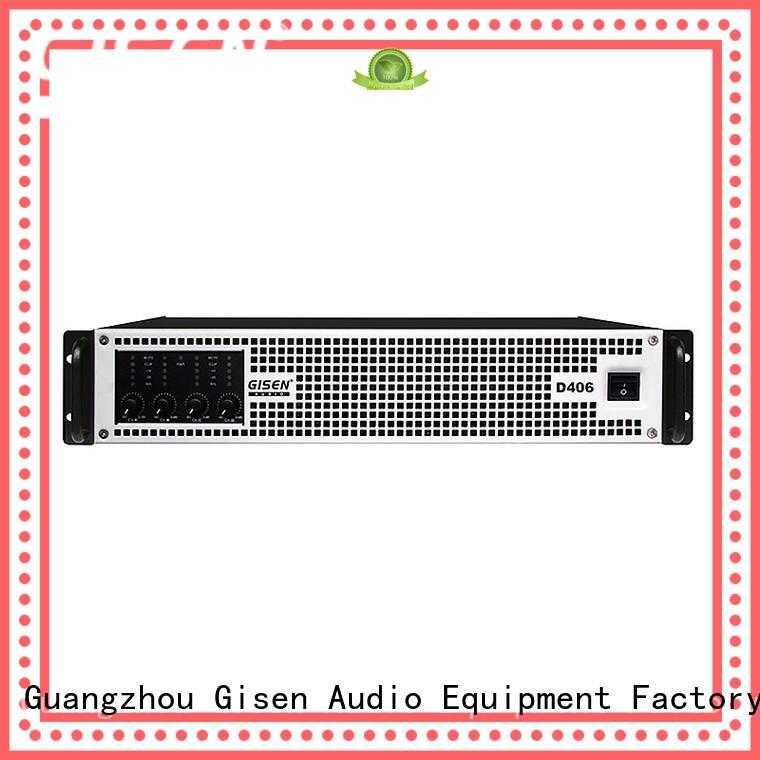 Gisen high efficiency home stereo power amplifier supplier for stadium