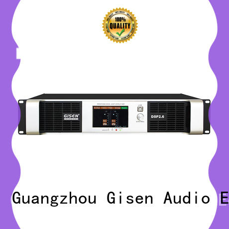 Gisen professional dsp amplifier factory for stage