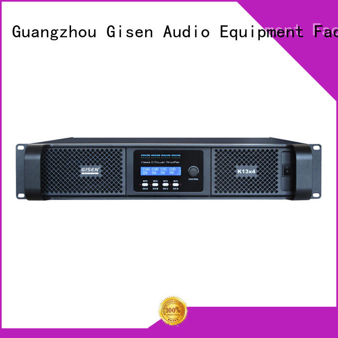 Gisen high efficiency top 10 power amplifiers 2100wx2 for meeting