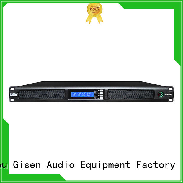 Gisen new model 4 channel power amplifier wholesale for performance